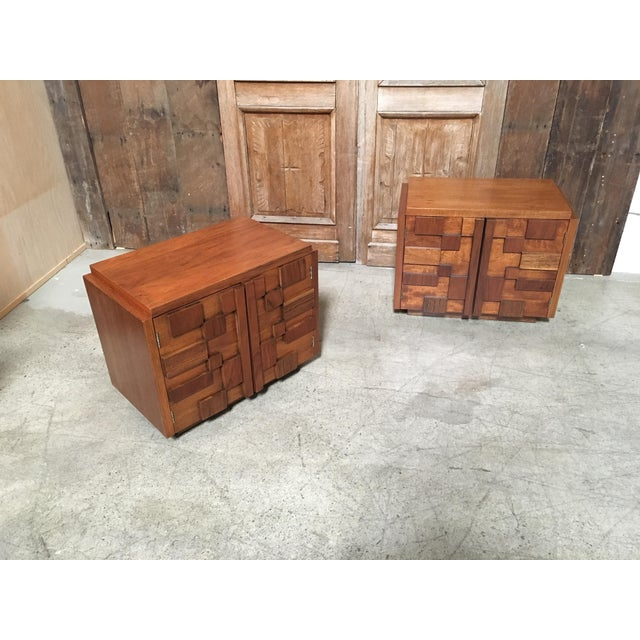 Brown Lane Altavista Brutalist Nightstands - a Pair For Sale - Image 8 of 8