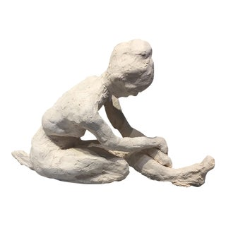 Petite Clay Sculpture of Nude Lady