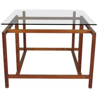 Henning Norgaard Danish Modern Teak and Glass Side Table for Komfort For Sale