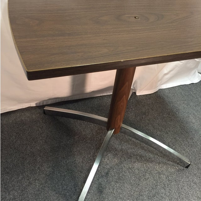 MCM Gusdorf Wood Grain TV Stand with Chrome Feet For Sale - Image 5 of 7