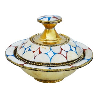 Moroccan Lidded Bowl For Sale