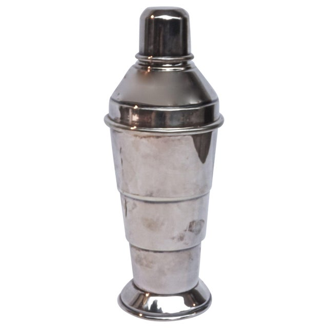 Art Deco English Silver Cocktail Shaker For Sale