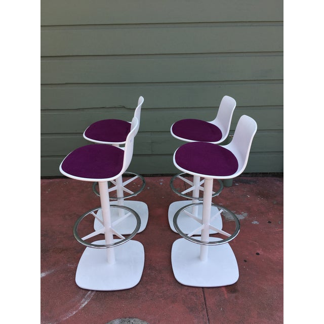 Contemporary Enea Lottus Post Bar Stools For Sale - Image 3 of 11