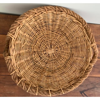 Vintage Basket With Rope Handles Preview