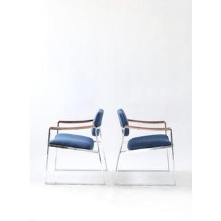 1960s Vintage Milo Baughman Probber Style Chrome Armchairs-a Pair Preview