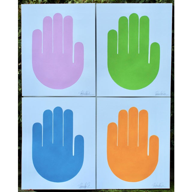 Talk to the Hands Original Paintings - Set of 4 For Sale In Atlanta - Image 6 of 6