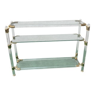 1960s Hollywood Regency Charles Hollis Jones Lucite Console For Sale