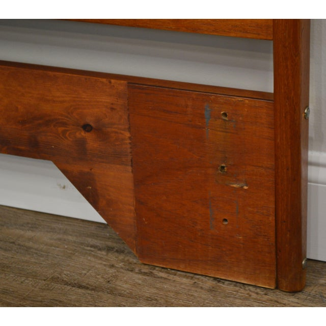 Brown Danish Modern Vintage Full Size Teak Headboard For Sale - Image 8 of 13