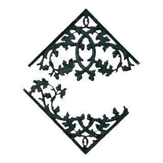 Vintage Acorn & Maple Leaf Cast Iron Brackets For Sale