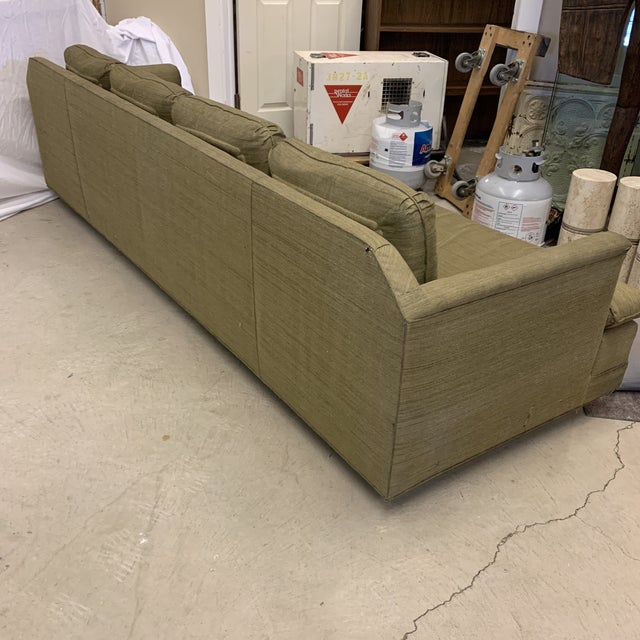 Heritage Furniture Chinoiserie Avocado Green Sofa For Sale - Image 4 of 13