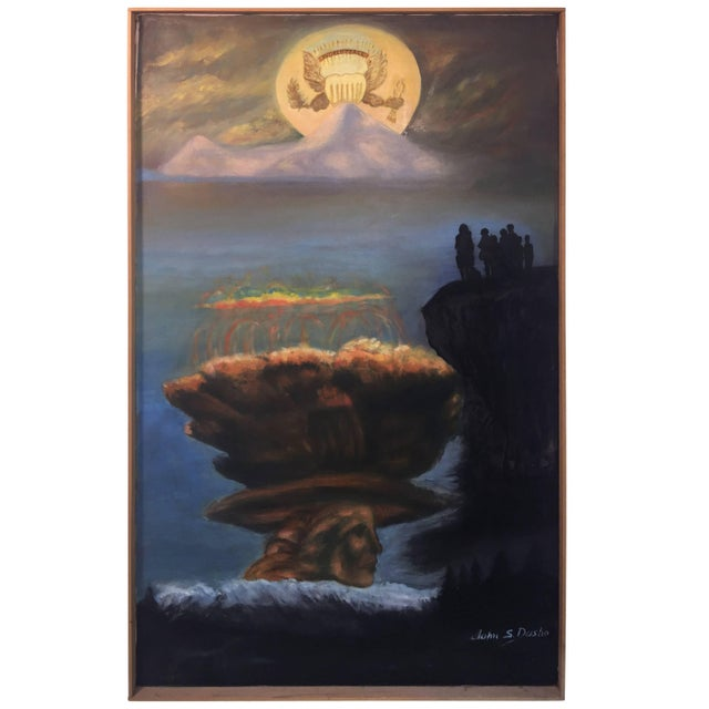 Modern World Peace Painting by Artist John Dasho For Sale - Image 10 of 10