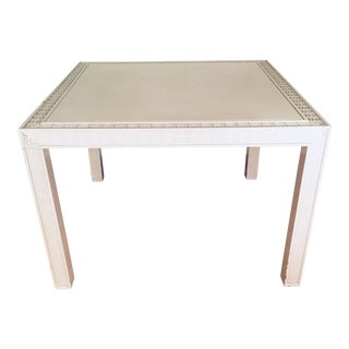 Vintage Fretwork Off-White Lacquer Table