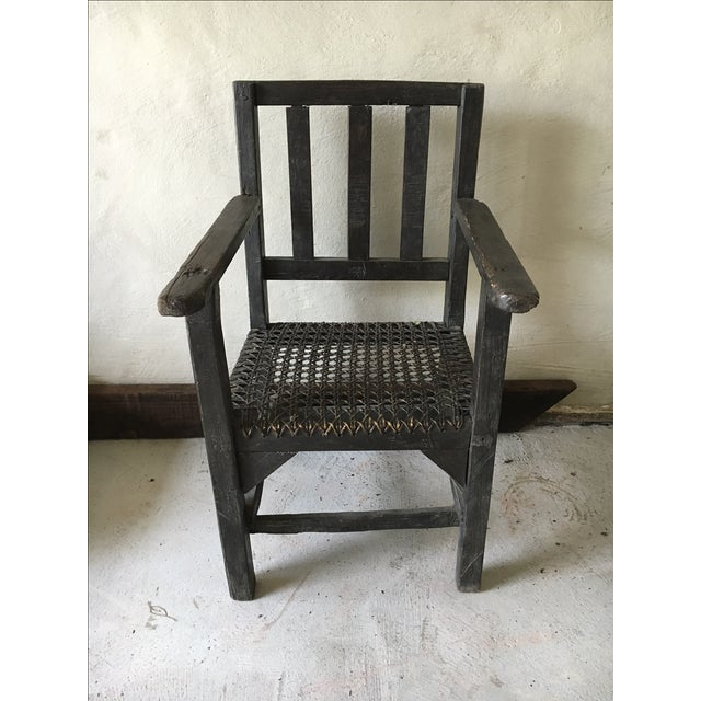 Primitive Asian Wicker Chair - Image 2 of 3