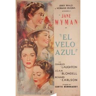 The Blue Veil 1951 Argentine Film Poster For Sale
