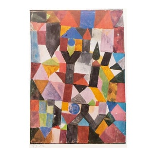 1958 Paul Klee, Invention (With the Dovecote) Vintage Lithograph Print For Sale