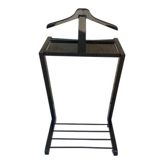 Ico Parisi Mid Century Style Black Lacquer Valet For Sale