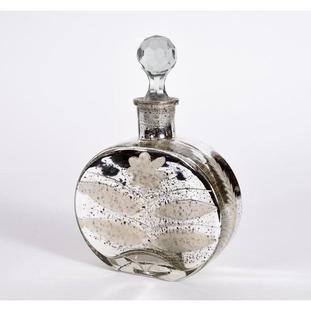 Glass Mercury Glass Decorative Bottle Vanity Piece For Sale - Image 7 of 7