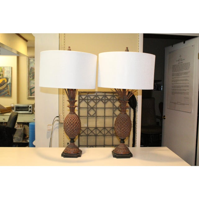 Pineapple Lamps - a Pair For Sale - Image 4 of 7