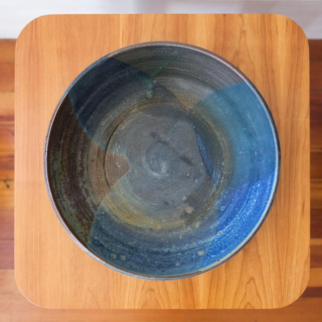 1950s Hal Fromhold California Studio Pottery Large Bowl, 1950s For Sale - Image 5 of 8