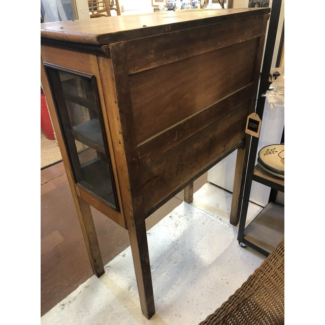 Rare Primitive Pie Safe With Original Paint and Hardware Circa 1900 For Sale - Image 11 of 13