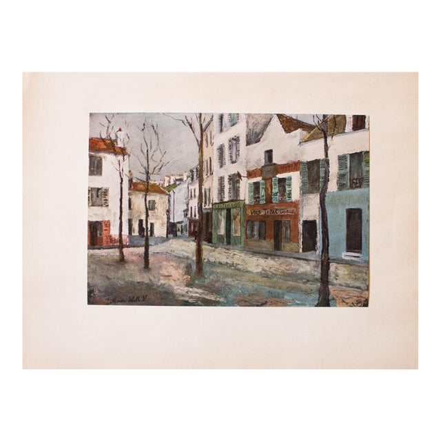 """1950s Maurice Utrillo First Edition Lithograph """"Place Du Tertre"""" For Sale"""