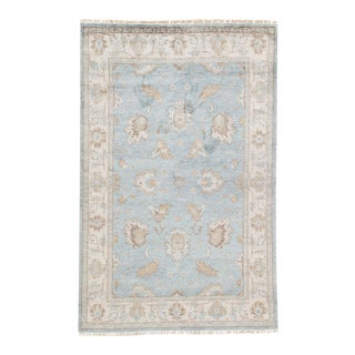 Jaipur Living Geneva Hand-Knotted Floral Light Blue & Ivory Area Rug - 2′ × 3′ For Sale
