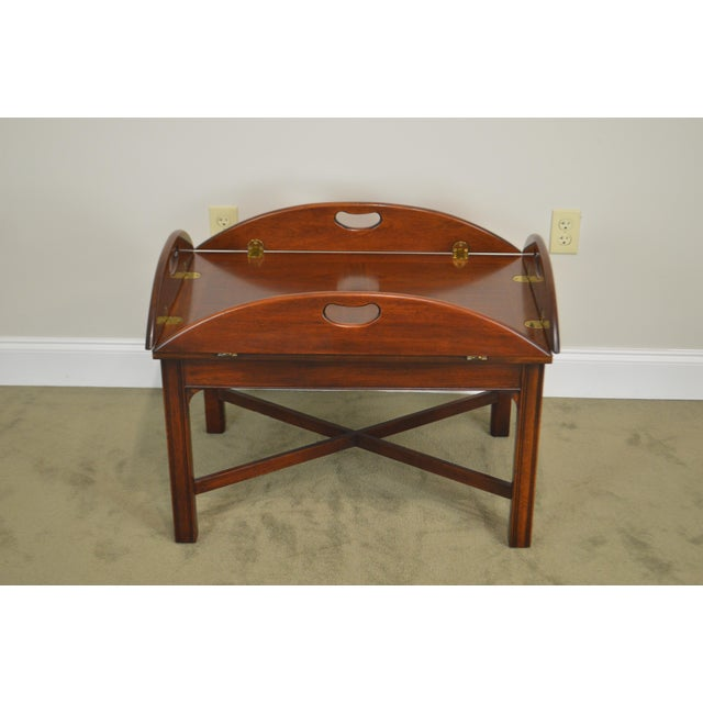 Chippendale Style Mahogany Butlers Coffee Table For Sale - Image 11 of 13