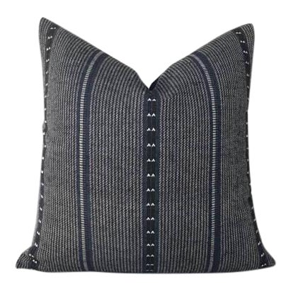 Navy Blue Zak & Fox Poncho Pillow Cover For Sale