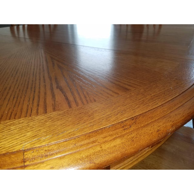 Country 1990s Country Honey Oak Clawfoot Dining Set - 7 Pieces For Sale - Image 3 of 9