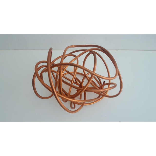 """Original Copper Coil """"Chaos"""" Twisted Knot Sculpture For Sale - Image 10 of 11"""