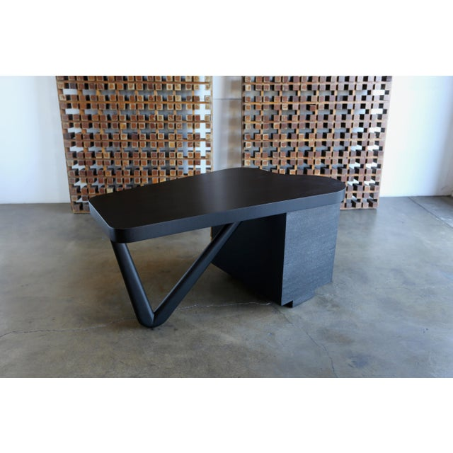Johnson Furniture Co. Rare Desk by Paul Frankl for Johnson Furniture, Circa 1950 For Sale - Image 4 of 8