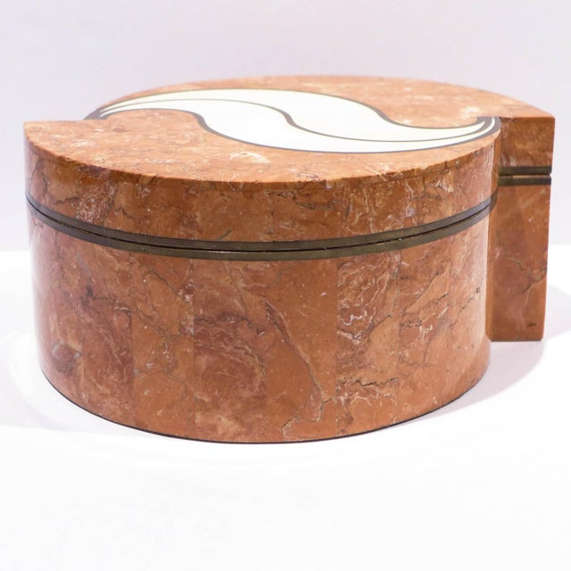 Tessellated Stone Box by Maitland-Smith For Sale In New York - Image 6 of 9