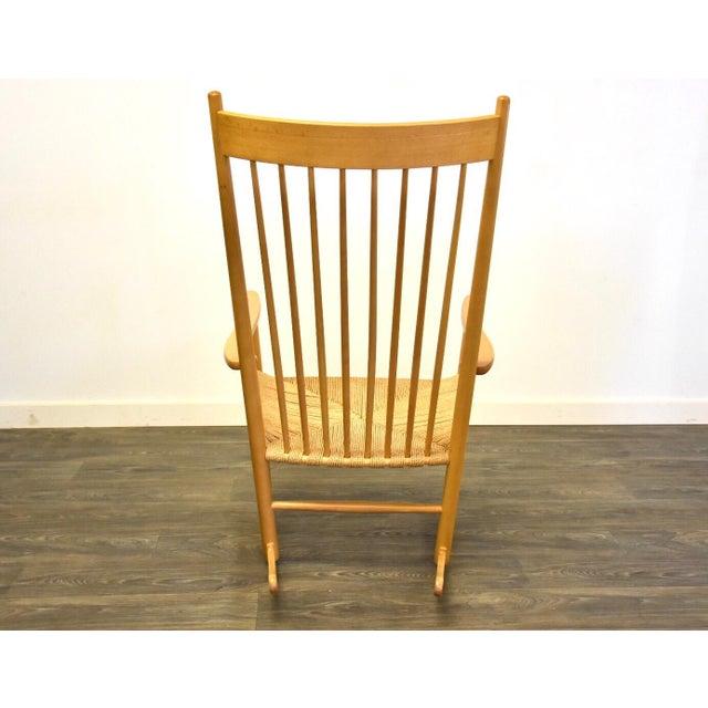 1980s Hans Wegner Danish Rocking Chair For Sale - Image 5 of 10