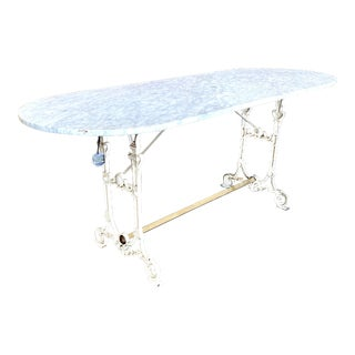19th. C. French Patisserie Marble Bakery Table For Sale
