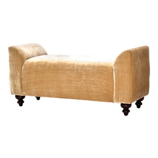 Silk Velvet Upholstered Bench