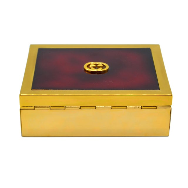 Brass Gucci Box For Sale - Image 7 of 7