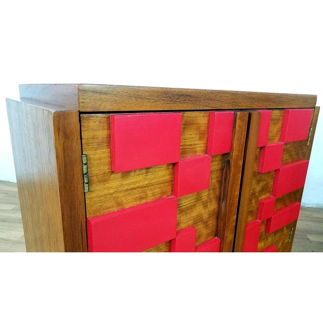 Red 1960s Mid Century Modern Lane End Tables - a Pair For Sale - Image 8 of 13