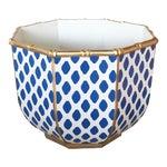 Bamboo Bowl in Navy Parsi