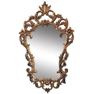 Cast Italianette Gilt Mirror For Sale