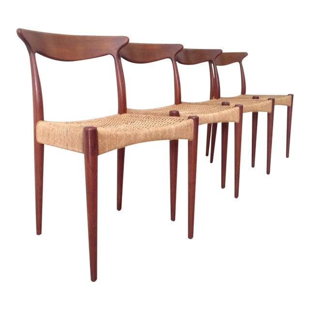 Arne Hovmand Olsen Teak Dining Chairs -Set of 4 For Sale