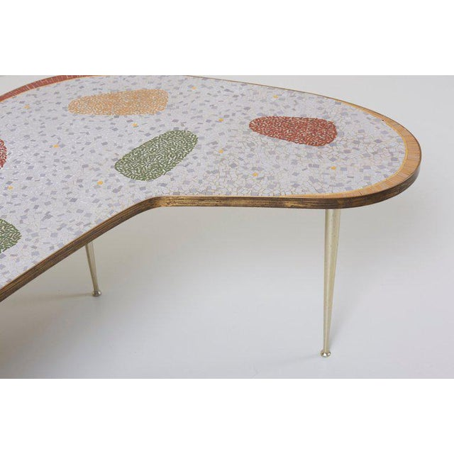 Metal Vintage Boomerang Coffee Table by Berthold Müller For Sale - Image 7 of 11