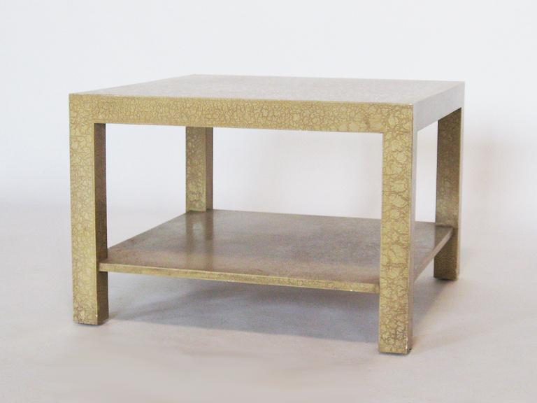 Baker Style Parsons End Table With Eggshell Finish   Image 3 Of 7