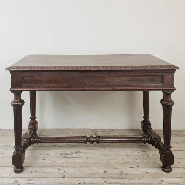 19th Century French Renaissance Writing Table For Sale - Image 12 of 13