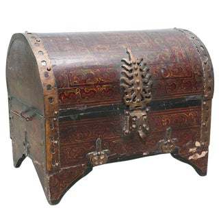 Painted Antique Goa Painted Trunk