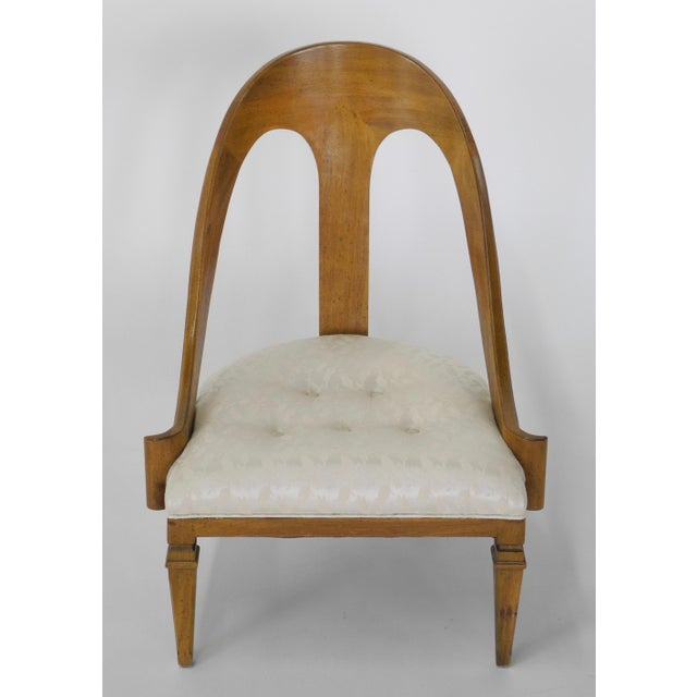 Neoclassical Style Spoon Back Slipper Chair For Sale In Chicago - Image 6 of 6