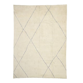 Organic Modern Style Moroccan Rug 09'10 X 13'08 For Sale