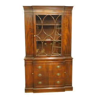 20th Century Traditional Pennsylvania Furniture Co. Mahogany Breakfront China Cabinet For Sale