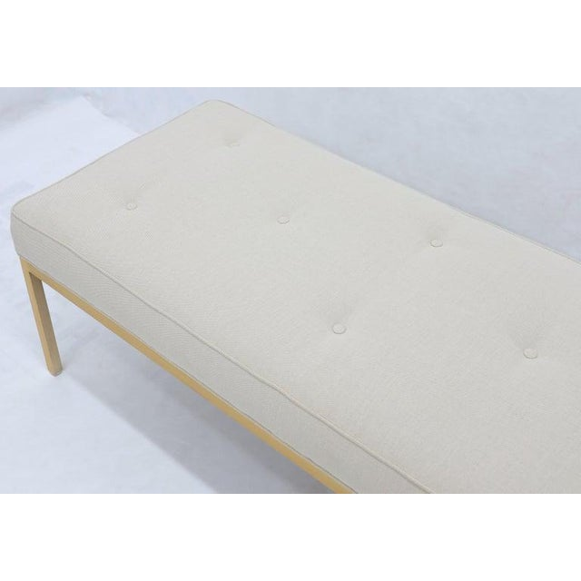 Mid-Century Modern solid brass frame profile new upholstery super comfortable spring loaded mattress like seat cushion...