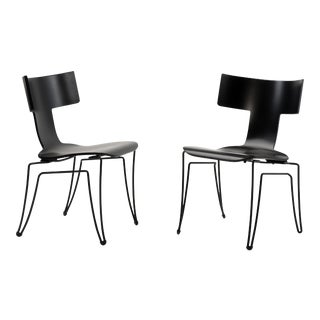 John Hutton for Donghia Anziano Dining Chairs - a Pair For Sale