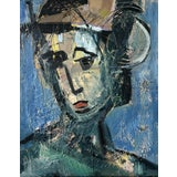 Image of Abstract Painting, Lady Waiting by Anne Darby Parker For Sale